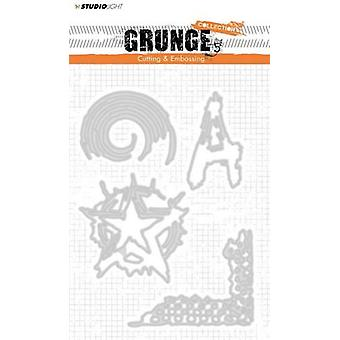 Studio Light Embossing Die Cut Stencil Grunge Coll. nr.151 STENCILSL151 145 x 110 mm