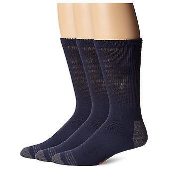 Dockers Men's 3-Pack Non-Binding Cushion Comfort Crew Sock, Navy, Shoe Size: ...