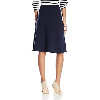 Briggs New York Women's Bistretch Flippy Skirt, Navy, Medium