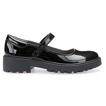 GEOX piger Casey MJ J6420P skole sko sort Patent