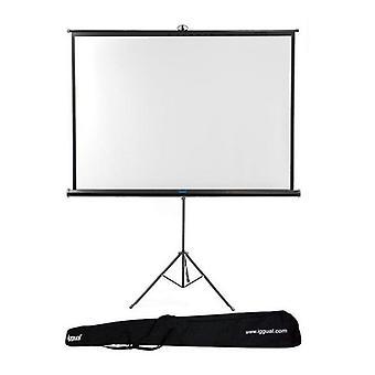 Nástěnná obrazovka se stativem + taška iggual PSITS200 (200 x 200 cm)