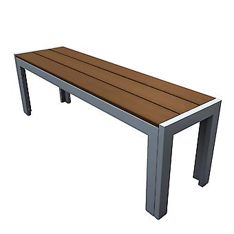 Polywood Garden Bench Seat with Metal Frame - Outdoor Patio Furniture