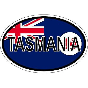 ملصقا البيضاوي البيضاوي رمز العلم البلد إلى البلد toqtralie Tasmanie