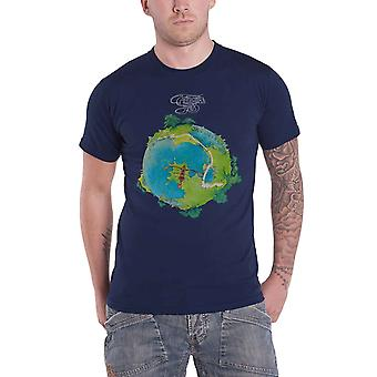 Yes T Shirt Fragile Band Logo new Official Mens Navy Blue