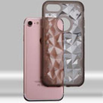 Asmyna Chali-Polygon Hybridi tapauksessa iPhone SE2/8/7 - Läpinäkyvä savu / savu
