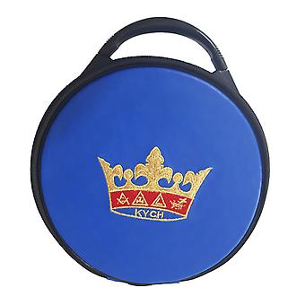 Masonic knights of the york cross of honour hat/cap case blue