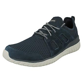 Mens Skechers Light-Weight Lace Up Trainers Rough Cut