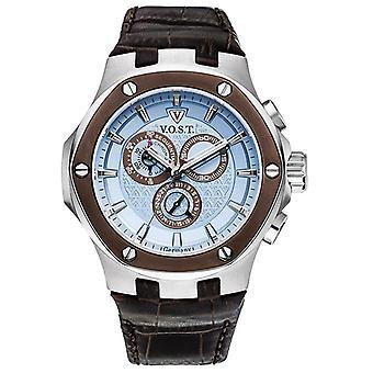 V.O.S.T. Germany V100.019 Blue Chrono Men's Watch 44mm