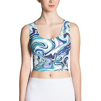 Fitted Crop Top | Blue Marble