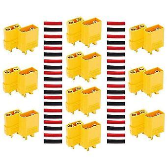 YUNIQUE Italia® 10 Paia di connettori XT90 di Alta qualità Maschio-Femmina connettori per batterie da modellismo RC Lipo
