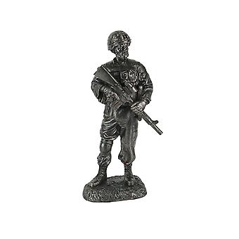 Battle Ready Military Soldier Veteran Tribute / Memorial Statue 10 Inches Tall