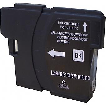 RudyTwos Replacement for Brother LC-980BK Ink Cartridge Black Compatible with MFC-250C, MFC-255CW, MFC-290C, MFC-295CN, MFC-297C, MFC-490CN, MFC-5490CN, MFC-5890CN, MFC-790CW, MFC-795CW, MFC-6490CW, M