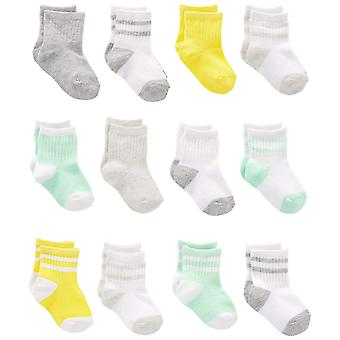 Simple Joys by Carter's Baby 12-Pack, White/Mint/Yellow, Size 12-24 Months