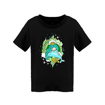 Little Kawaii Mermaid Tee Toddler's -Image by Shutterstock
