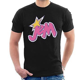 Jem And The Holograms Light Pink Logo Men's T-Shirt