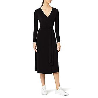 MERAKI Women's Wrap Dress, Svart, EU S (US 4-6)