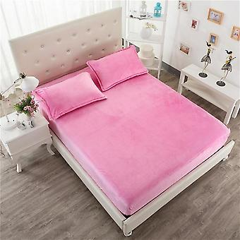 Soft Cozy Thickened Warm Bed Mattress Protective Cover And Pillowcase - Elastic