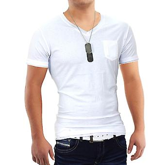 Mænds kortærmet t-shirt Polo Stretch Slim fit Clubwear skjorte lommen Bull