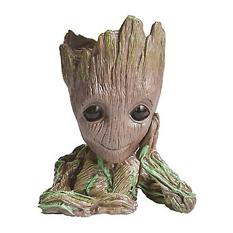 Baby Groot Flowerpot Planter Action Figures Tree Man Model Toy Pen Holder