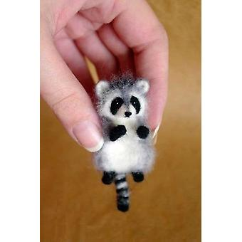 Lovely Cute Animal Wool Needle Felting Package Material - Akita Dog Cat Panda Raccoon Rabbit Diy Non Finished Felted Kit