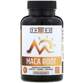 Zhou Nutrition, Organic Maca Root, 120 Vegetable Capsules