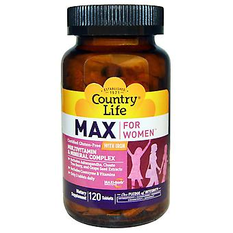 Country Life, Max for Women, Multivitamin & Mineral Complex with Iron, 120 Table