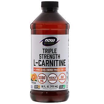 Now Foods, Sports, Triple Strength L-Carnitine Liquid, Citrus, 3,000 mg, 16 fl o