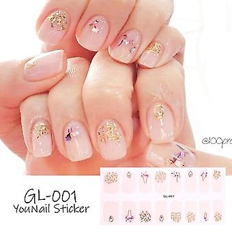 1 Ark Glitter Series Pulver Pailletter Fashion Nail Art klistermærker-Collection Manicure Neglelak Strips Wraps