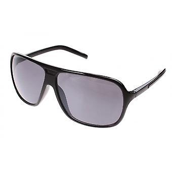 Zonnebril Unisex zwart met gerookt glas (A40120)