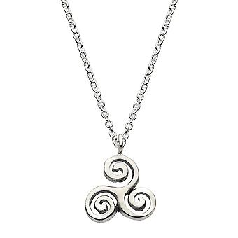 Heritage Sterling Silver Celtic Swirl Necklace 9292HP026