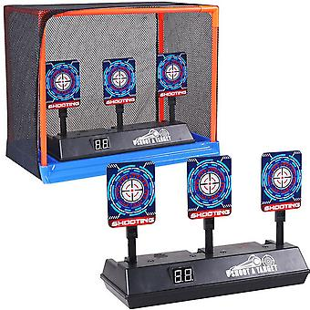 Children Running Shooting Targets With Net Frame - Electronic Scoring Auto