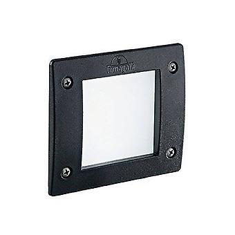 LED 1 Ljus Square Utomhus Infälld Ljus Svart IP66