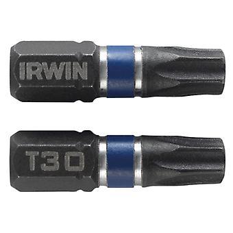 IRWIN Impact Screwdriver Bits Torx T30 25mm Pack of 20 IRW1923338