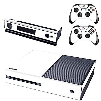 REYTID Console Skin / Sticker + 2 x Controller Decals & Kinect Wrap Compatible with Microsoft Xbox One - Full Set - White