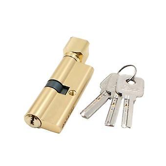 Trava da porta Cilindro Antirroubo Entrada Fechadura da porta metálica com 3 teclas