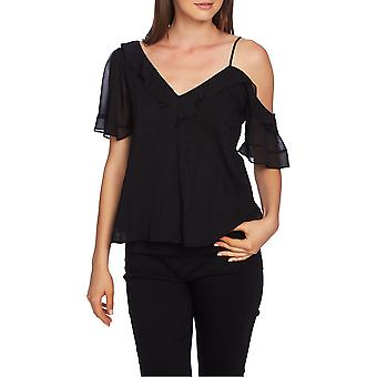 1.State | Ruffle One-Shoulder Embroidered Top