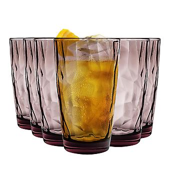 Bormioli Rocco Diamond Dimpled Cooler Glasses - Rock Purple - 470ml - Pack of 6