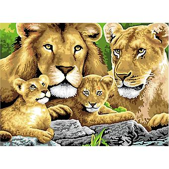 Pintura por Número Definido Junior Grande - Orgulho de Leões