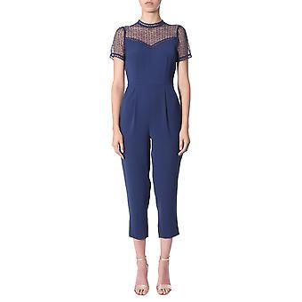 Michael By Michael Kors Ms98ys06bz456 Women's Blue Polyester Jumpsuit