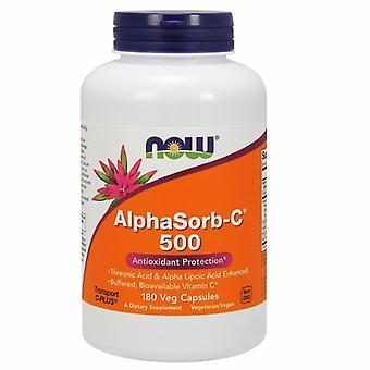 Nyt Elintarvikkeet AlphaSorb-C, 500 mg, 180 Vcaps