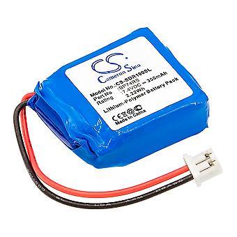 Battery for Dogtra BP74RS 1900S Receiver 1902S Receiver CS-SDR190SL 7.4V 300mAh
