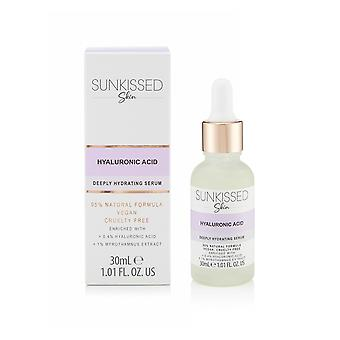 Sunkissed Skin Hyaluronic Acid Deeply Hydrating Serum 30ml with - +0.4% Hyaluronic Acid and +1% Myrothamnus Extract - 95% Natural - Vegan - Cruelty Free