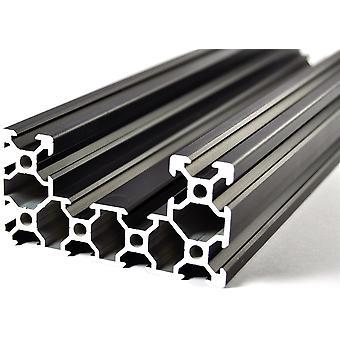 400mm Aluminium Noir C Forme Extrusion 4080