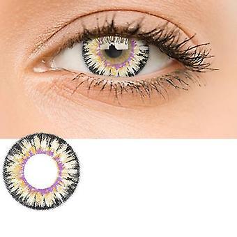 Bløde og smukke farvede kontaktlinser