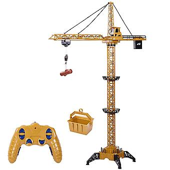 Remote Control Tower Crane-680°rotation Lift Model, Musical Led Construction