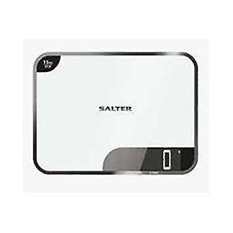 Salter Electronic Kitchen Scale White 15kg Capacity 1079WHDR