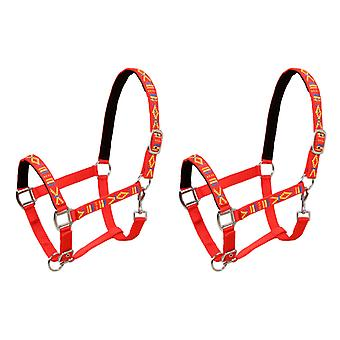 Horse-collar 2 piece nylon size whole blood red