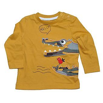 Mosterd gele trui met krokodil