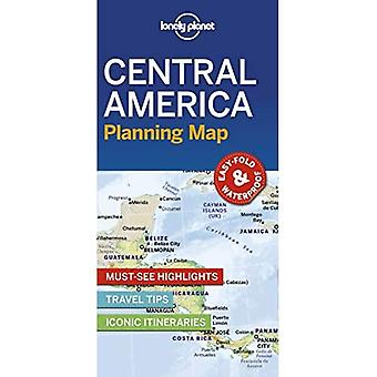 Lonely Planet Central America Planning Map (Kaart)