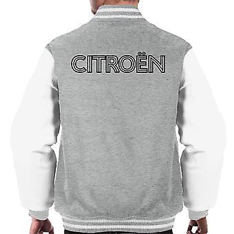 Citro?n Retro Line Black Logo Men's Varsity Jacket